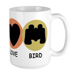 Peace Love Bird Large Mug