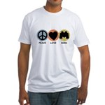 Peace Love Bird Fitted T-Shirt