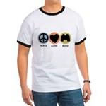Peace Love Bird Ringer T-Shirt