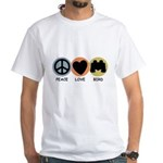 Peace Love Bird White T-Shirt