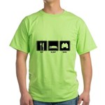 Eat Sleep Bird Green T-Shirt