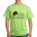 Be Vewy Quiet I'm Birding Green T-Shirt