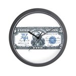Injun Money Wall Clock