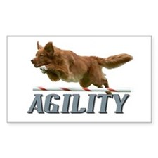 Toller Agility Rectangle Decal