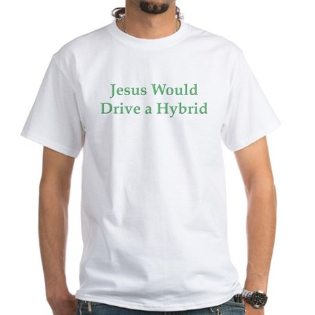 Jesus and Hybrid White T-Shirt