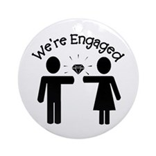 Engagement Ornament (Round)