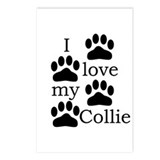 Collie Paw Prints Postcards (Package of 8)