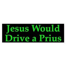 Jesus and Prius Bumper Bumper Sticker
