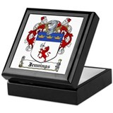 Jennings Family Crest Keepsake Box