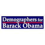 Demographers for Obama car sticker