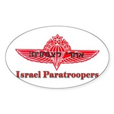 Israel Paratroopers Oval Decal