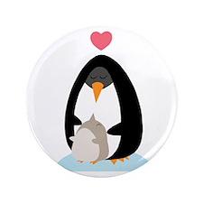"Penguin Love 3.5"" Button"