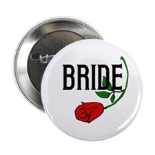 "Gothic Rose Bride 2.25"" Button"