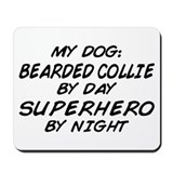 Bearded Collie Superhero Mousepad