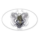 Tiger and Skull Oval Decal