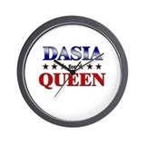 DASIA for queen Wall Clock