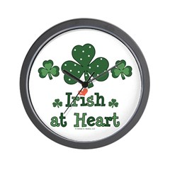Irish at Heart St Patrick's Wall Clock