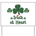 Irish at Heart St Patrick's Yard Sign