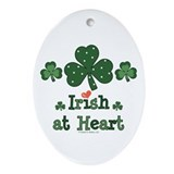 Irish at Heart St Patrick's Oval Ornament