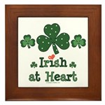 Irish at Heart St Patrick's Framed Tile