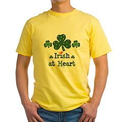 Irish at Heart St Patrick's Yellow T-Shirt