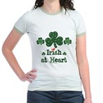 Irish at Heart St Patrick's Jr. Ringer T-Shirt