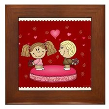 Happy Valentine's Day! Framed Tile