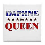 DAPHNE for queen Tile Coaster