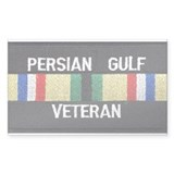 Persian Gulf Veteran Rectangle Decal