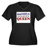 DANIELA for queen Women's Plus Size V-Neck Dark T-