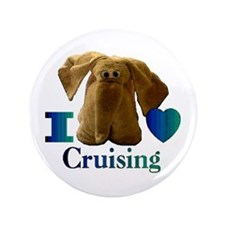 "I Heart ( Love ) Cruising 3.5"" Button"
