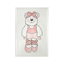 PINK BALLERINA BEAR Rectangle Magnet (10 pack)