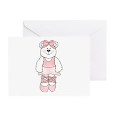PINK BALLERINA BEAR Greeting Cards (Pk of 20)