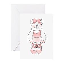 PINK BALLERINA BEAR Greeting Cards (Pk of 20)