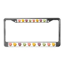 Retro Candy Hearts Love License Plate Frame