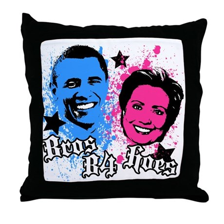 Bros Before Hoes Throw Pillow