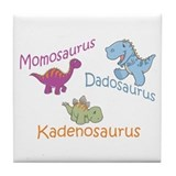 Mom, Dad & Kadenosaurus Tile Coaster