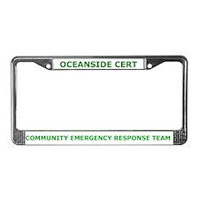 Oceanside CERT License Plate Frame