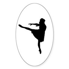 Ballet Girl Oval Decal
