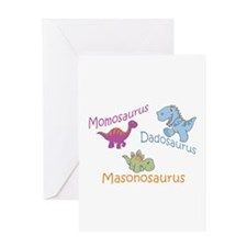 Mom, Dad & Masonosaurus Greeting Card