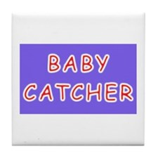 Unique Baby catcher Tile Coaster
