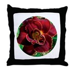 Night Embers Daylily Throw Pillow