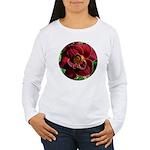 Night Embers Daylily Women's Long Sleeve T-Shirt
