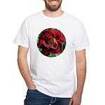 Night Embers Daylily White T-Shirt