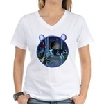 The Cat & The Fiddle Women's V-Neck T-Shirt