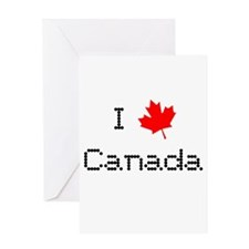 I Love Canada Greeting Card
