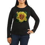 Fooled Me Daylily Women's Long Sleeve Dark T-Shirt