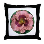Daring Deception Daylily Throw Pillow