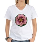 Daring Deception Daylily Women's V-Neck T-Shirt