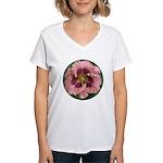 Daring Deception Daylily Women's V-Neck T-Shirt
